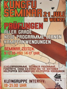 Kungfuschule Kärnten Seminar im März 2017